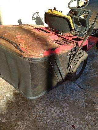 cesta para tractor cortacesped