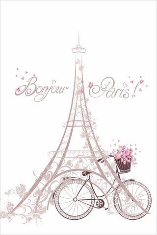 Precioso nuevo estor con diseño de Paris en Bicicl