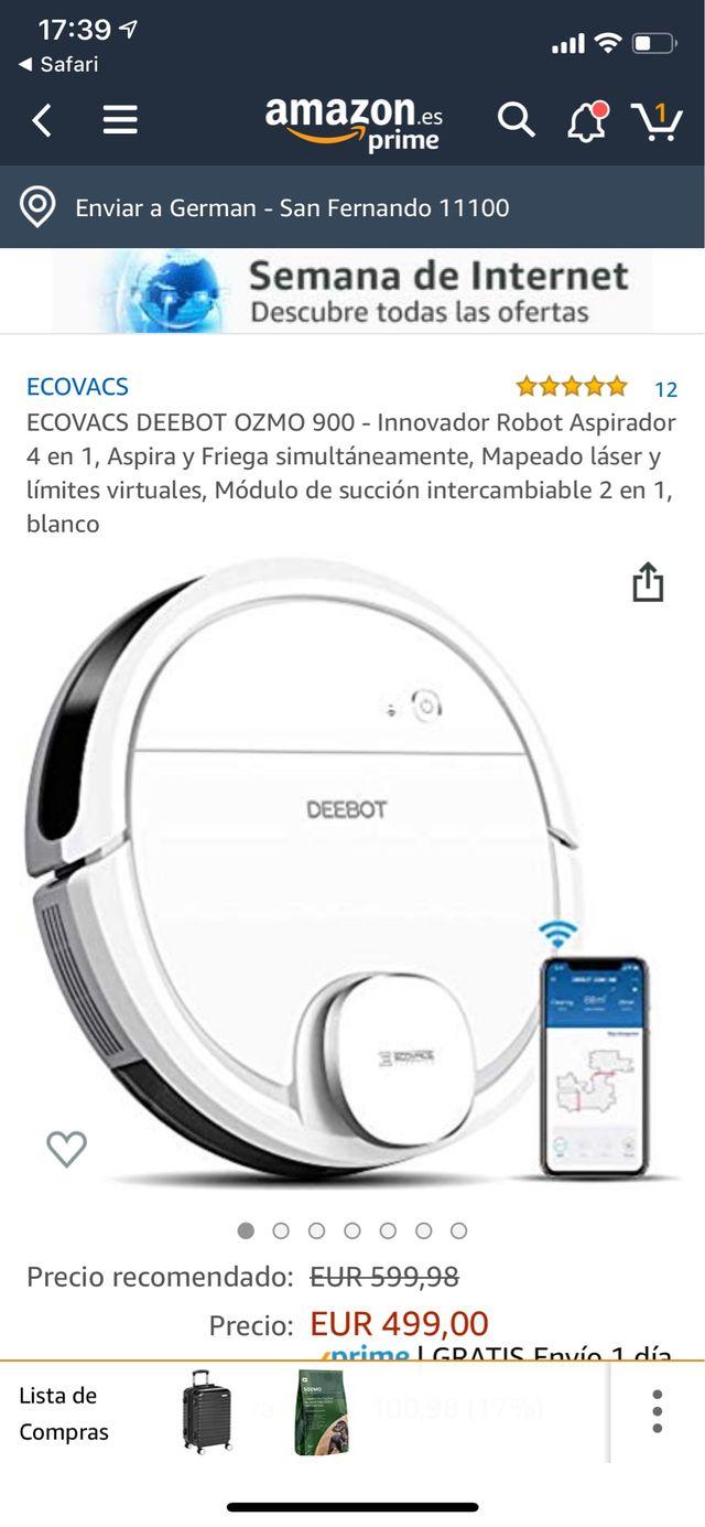 Deebot Ozmo 900 (400€ en Amazon) como Nuevo