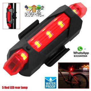 Luz LED Trasera de Bicicleta Reflectante
