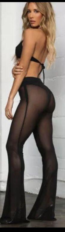 Pantalón transparente negro