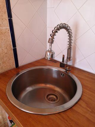 Grifo de cocina + lavabo