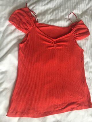 Camiseta de asillas en coral T L/LX