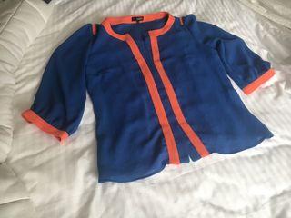 Blusa casual azul real