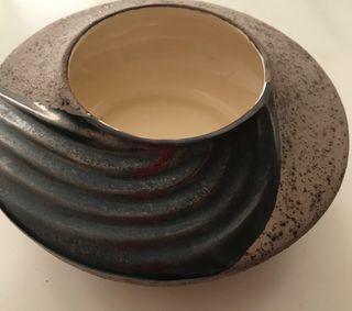 Centro mesa cerámica decorado mano