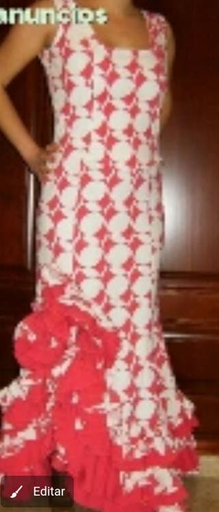 traje flamenca 2 piezas