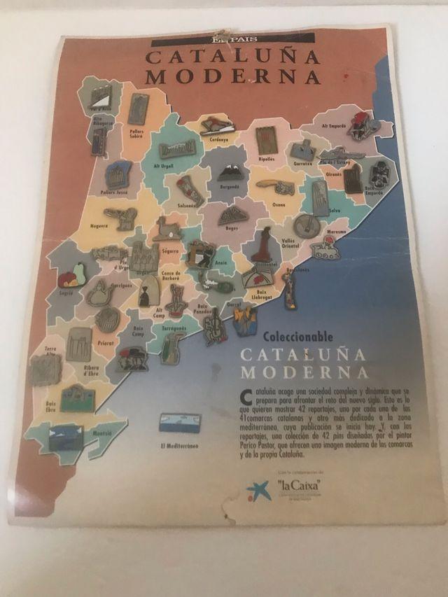 Colección 42 pins comarcas Catalunya