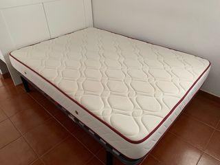 Colchón con plancha de espuma viscoelástica. 1,35