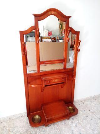 Mueble recibidor Perchero Paragüero Espejo