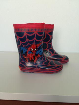 Botas lluvia Spiderman talla 28