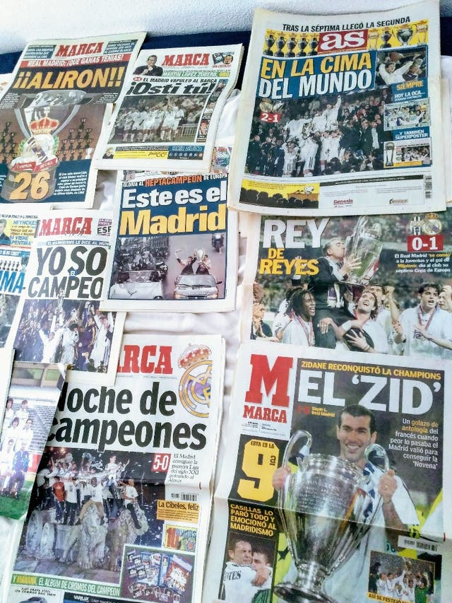 Prensa y productos del Real Madrid