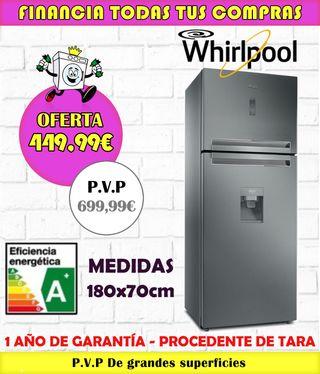 FRIGORÍFICO WHIRLPOOL A+ 180x70cm
