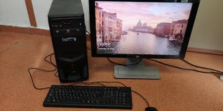 "ordenador de sobremesa + monitor 24"" webcam"