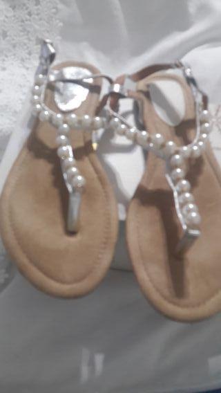 zandalias de perlas