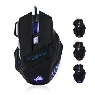 Ratón Gamer de 7 Botones LED óptico Laser 5500DPI