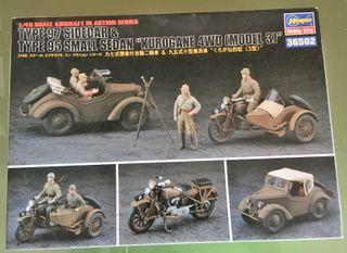 Maqueta ASEGAWA 1/48 - Type 97 Sidecar & Type 95 s
