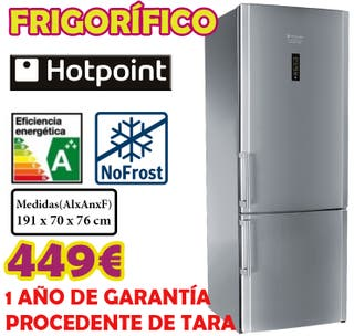FRIGORIFICO HOTPOINT INOX 1.91x0.70m
