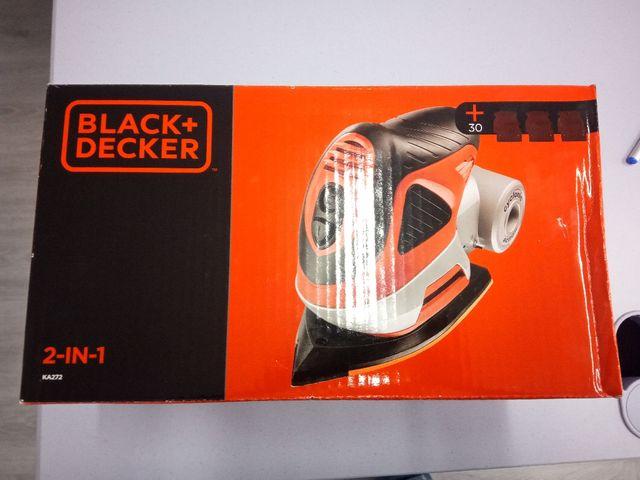 Lijadora con aspirador Black and Decker