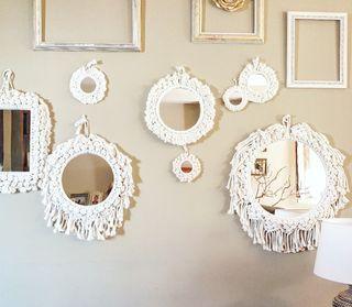 Espejos de macramé