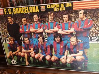 CUADRO BARÇA CAMPEON 1973