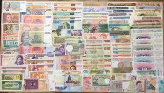 Lote 100 Billetes del Mundo DIFERENTES