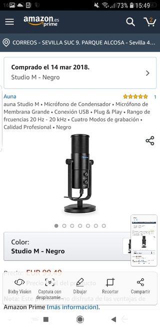 microfono profesional youtuber auna