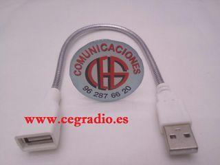 Cable Extensión Flexible Metal USB Macho USB Hembr