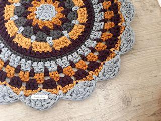 alfombra de crochet con trapillo