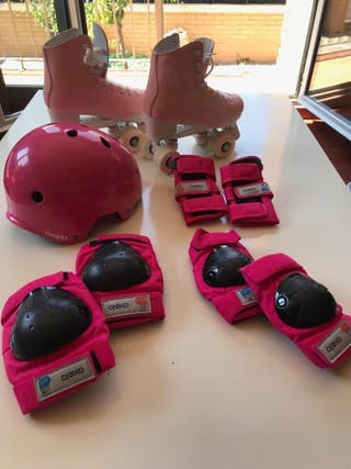 (¡URGE VENDER!) Patines + Protectores + Casco