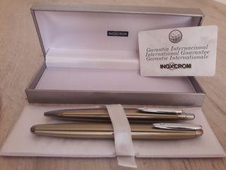 Pluma estilográfica y bolígrafo Inoxcrom