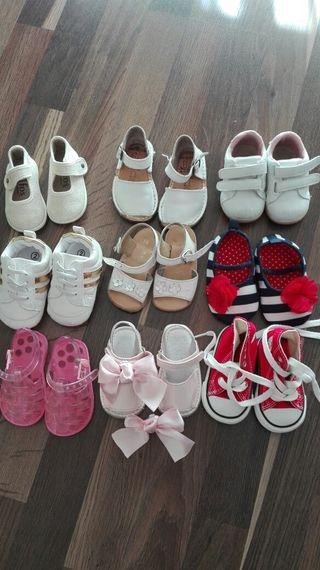 lote calzado de bebé número 18