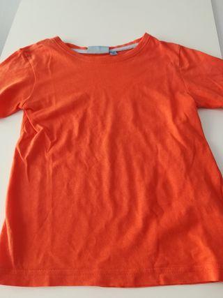 Camiseta manga corta niño naranja Talla 5 años