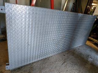 Rampa chapa aluminio galvanizado para remolque