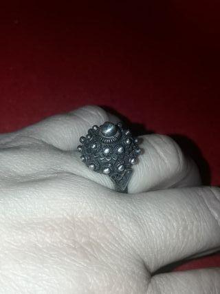 anillo plata antiguo charra Salamanca