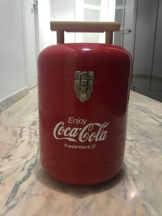 Nevera portatil COCACOLA para camping retro deco