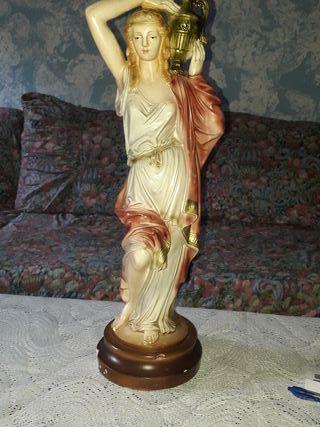 figura escultura talla de escayola vintage