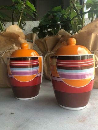 Tarro / Bote de cerámica con tapa