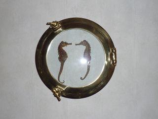 OJO de BUEY de bronce. decoración marinera