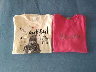 Lote de 2 camisetas de niña una sin estrenar