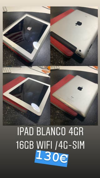 Ipad 16GB 4rg wifi 4G blanco