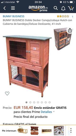 Casa conejos/cobayas dos plantas