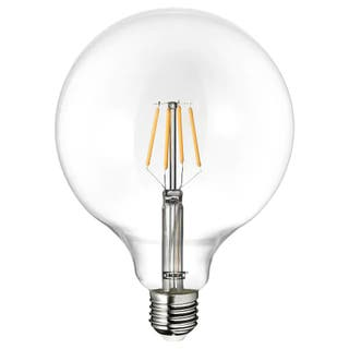 Bombilla LED E27 600 lúmenes, globo vidrio incolor