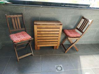 Mesa para terraza ikea de segunda mano en wallapop for Sillas de terraza de segunda mano