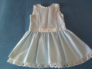 Vestido de niña de pique talla 7-8