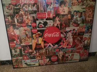 Cuadro puzzle Coca cola