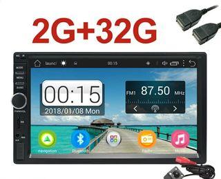 Radio Android 2Gb RAM + 32GB, 2 DIN Nueva