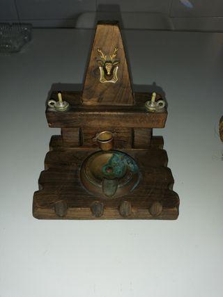 antigüedades de madera y madera y bronce