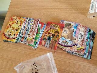 cartas TOPPS cromos pokemon tazos LOTE