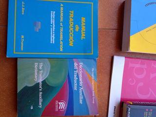 lote de diccionarios en inglés y otros