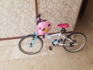 Bicicleta de una niña de 6 añito.
